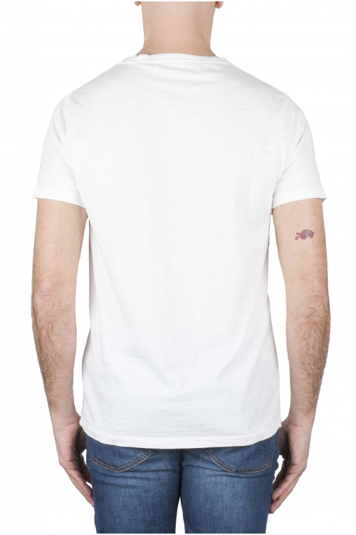 SBU 03314_2021SS T-shirt girocollo aperto in cotone fiammato bianca 01