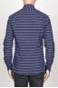 SBU 00921 Clásica camisa azul de rallas de algodón con cuello de punta  04