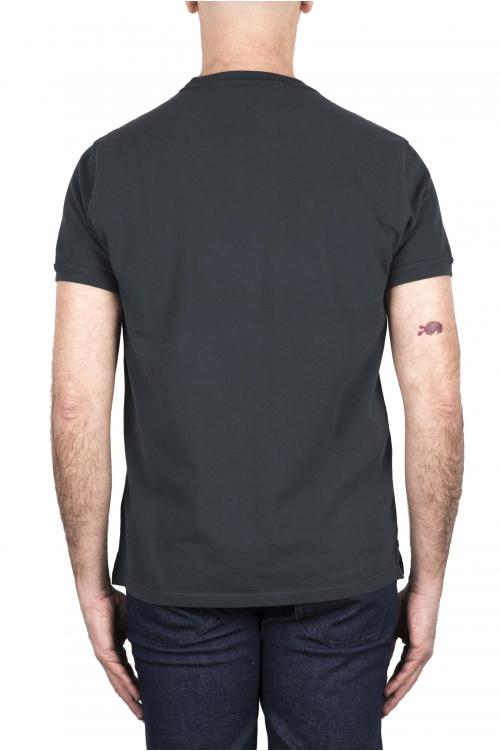 SBU 03316_2021SS T-shirt classique en coton piqué gris plomb 01