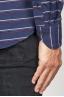 SBU 00921 Camicia classica collo a punta in cotone a righe blue 06