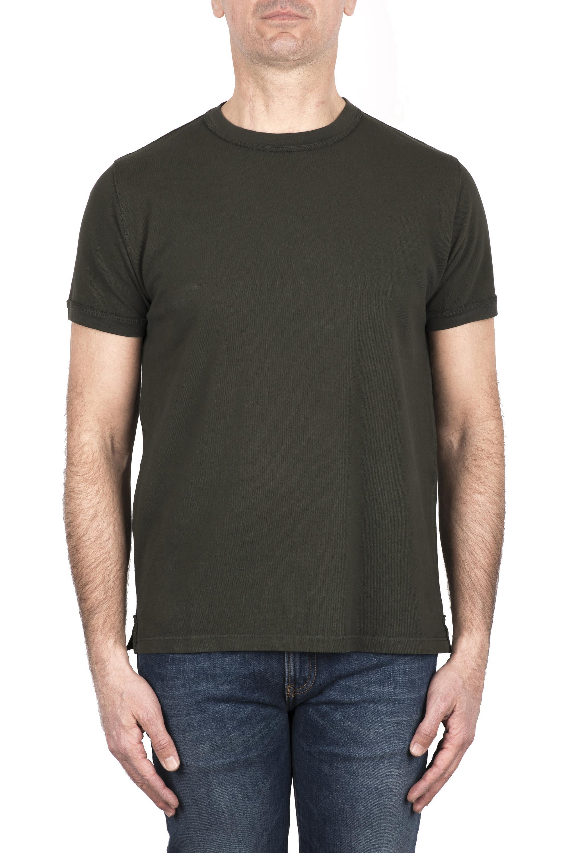 SBU 03320_2021SS Cotton pique classic t-shirt green 01