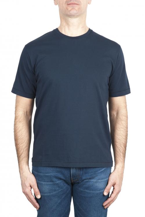 SBU 03322_2021SS T-shirt col rond en pur coton bleu marine 01