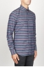 SBU 00922 Classic point collar grey striped cotton shirt 02