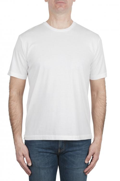SBU 03323_2021SS Camiseta de algodón puro con cuello redondo blanca 01