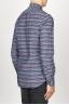 SBU 00922 Clásica camisa gris de rallas de algodón con cuello de punta  03