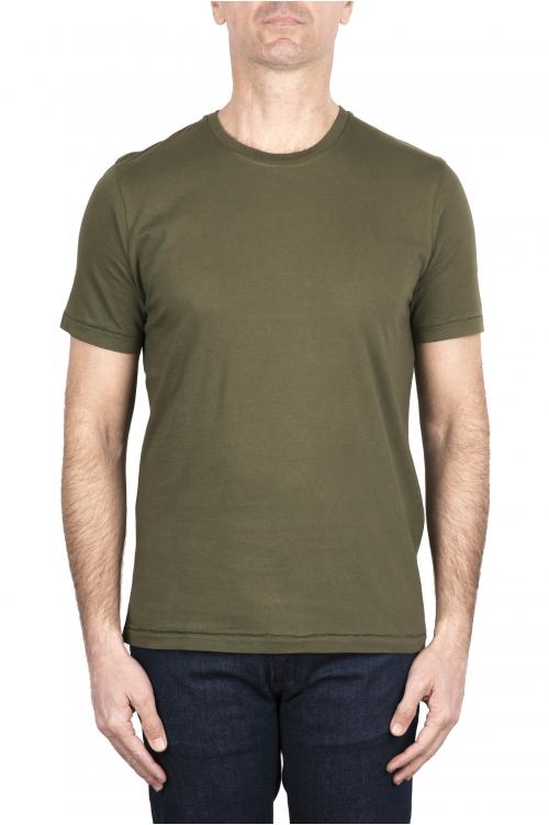 SBU 03324_2021SS T-shirt girocollo in puro cotone verde 01