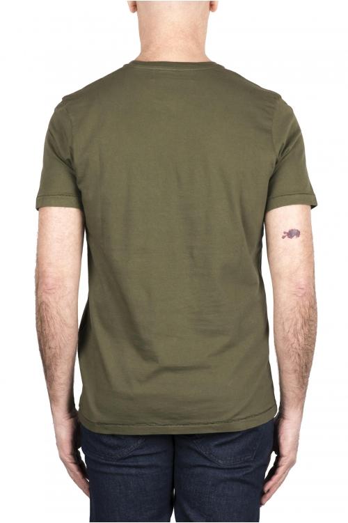 SBU 03324_2021SS Camiseta de algodón puro con cuello redondo verde 01