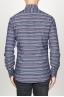 SBU 00922 Clásica camisa gris de rallas de algodón con cuello de punta  04