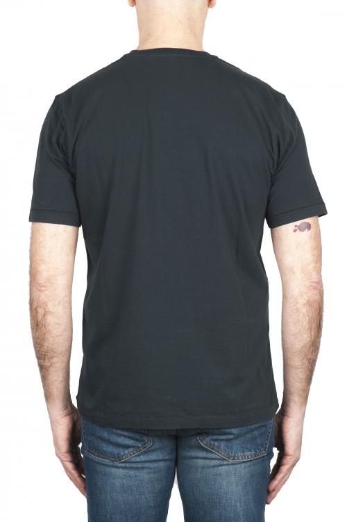 SBU 03325_2021SS Camiseta de algodón puro con cuello redondo antracita 01
