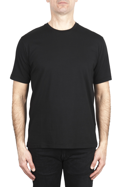 SBU 03326_2021SS Pure cotton round neck t-shirt black 01