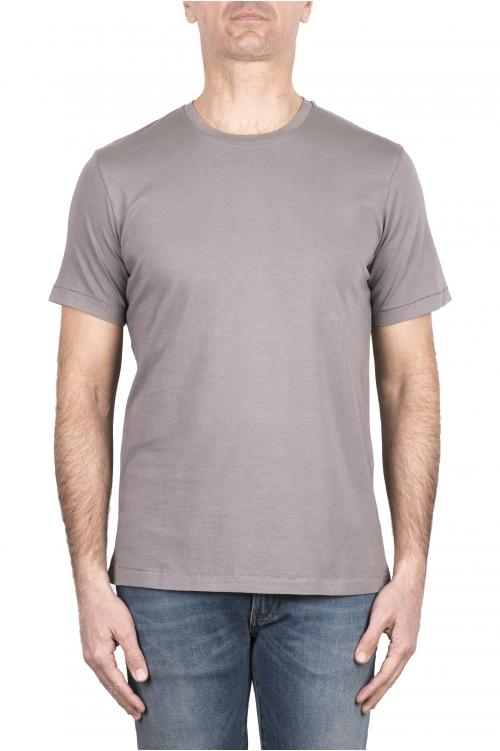 SBU 03327_2021SS Camiseta de algodón puro con cuello redondo gris 01