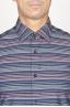 SBU 00922 Camicia classica collo a punta in cotone a righe grigia 05
