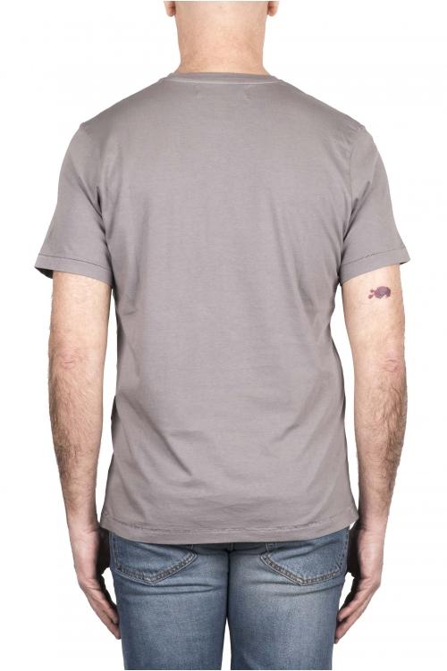 SBU 03327_2021SS Pure cotton round neck t-shirt grey 01