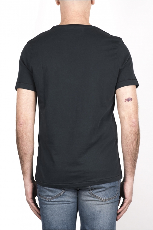 SBU 03330_2021SS Round neck patch pocket cotton t-shirt anthracite grey 01