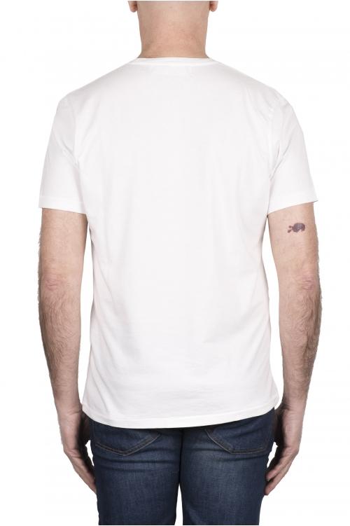 SBU 03331_2021SS T-shirt girocollo in cotone con taschino bianca 01