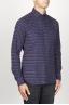 SBU 00923 Clásica camisa granate de rallas de algodón con cuello de punta  02