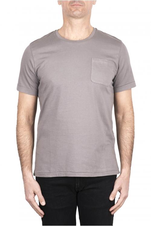 SBU 03333_2021SS T-shirt col rond en coton gris avec poche plaquée 01