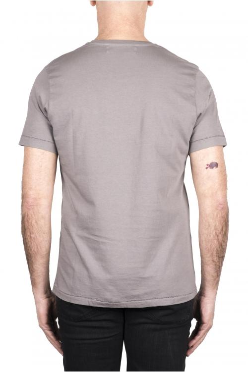 SBU 03333_2021SS Camiseta de algodón gris de cuello redondo y bolsillo de parche 01