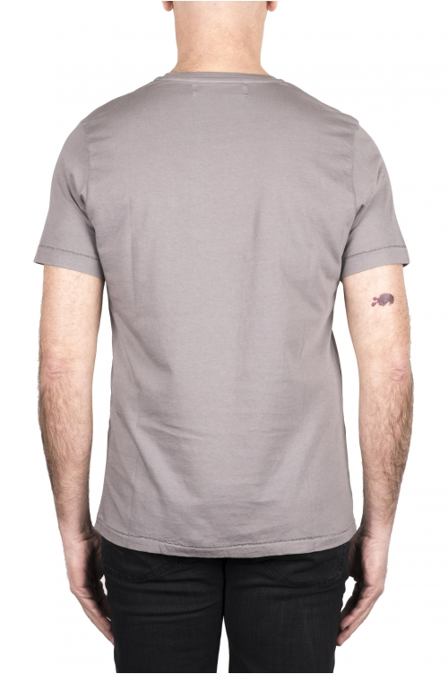 SBU 03333_2021SS T-shirt girocollo in cotone con taschino grigia 01