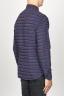 SBU 00923 Clásica camisa granate de rallas de algodón con cuello de punta  03