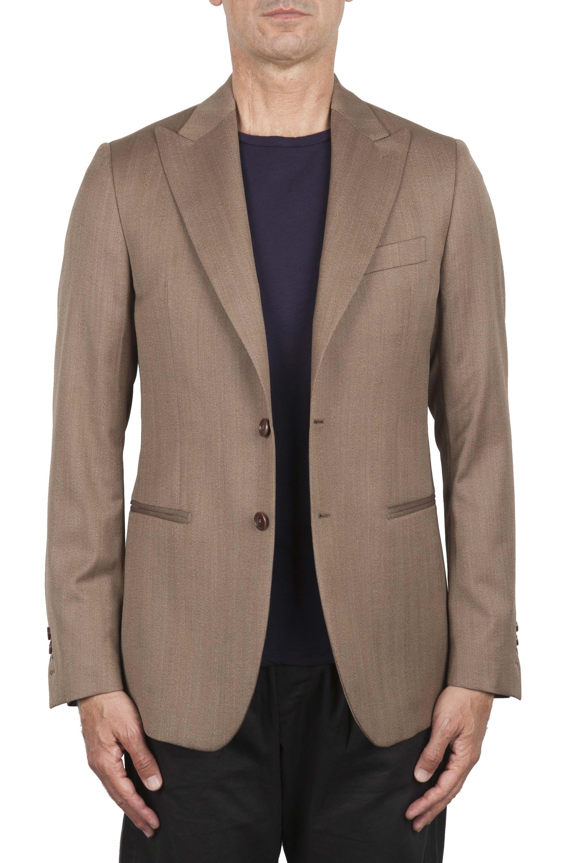 SBU 03335_2021SS Brown wool tailored jacket 01