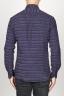 SBU 00923 Clásica camisa granate de rallas de algodón con cuello de punta  04