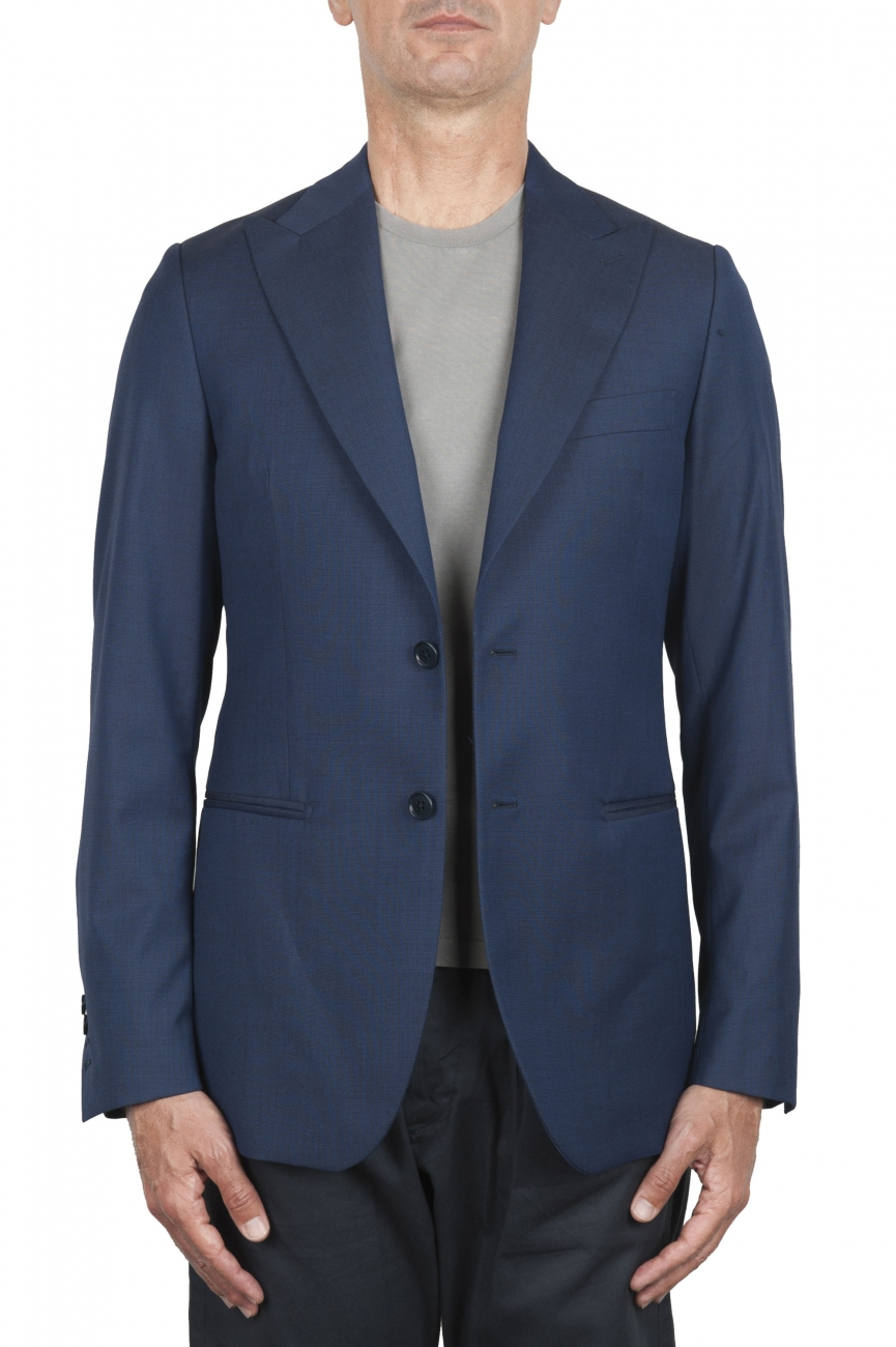 SBU 03336_2021SS Blue wool tailored jacket 01