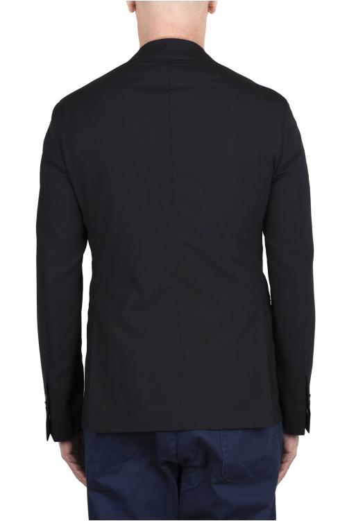 SBU 03337_2021SS Veste tailleur en laine stretch bleu marine 01
