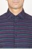 SBU 00923 Camicia classica collo a punta in cotone a righe bordeaux 05