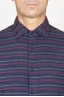 SBU 00923 Classic point collar bordeaux striped cotton shirt 05
