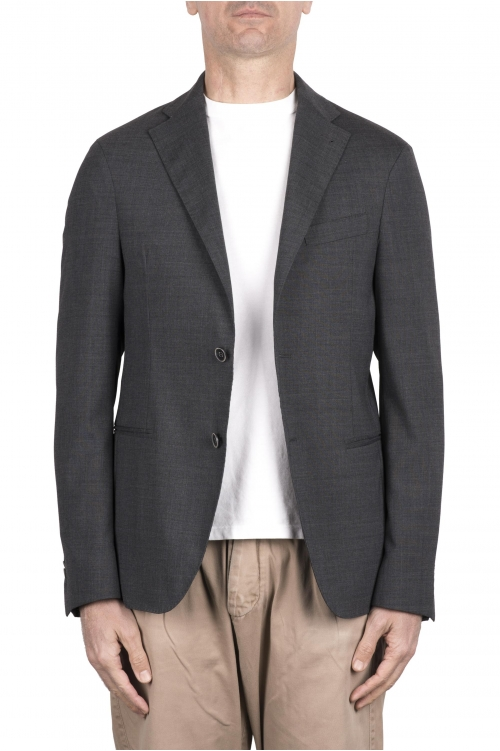 SBU 03338_2021SS Veste tailleur en laine stretch gris 01