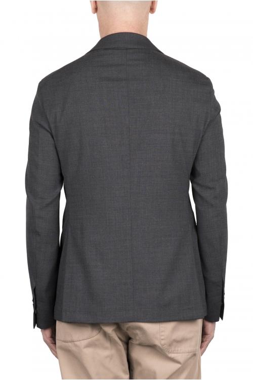 SBU 03338_2021SS Chaqueta de sastre de lana elástica gris 01