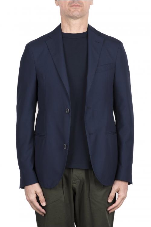 SBU 03339_2021SS Veste tailleur en laine stretch bleu 01