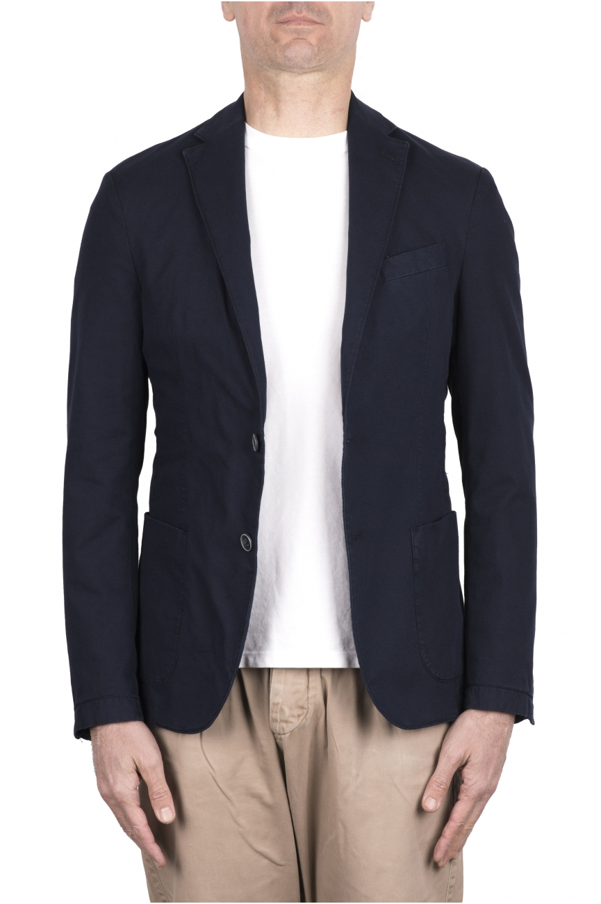 SBU 03340_2021SS Blue stretch wool tailored jacket 01