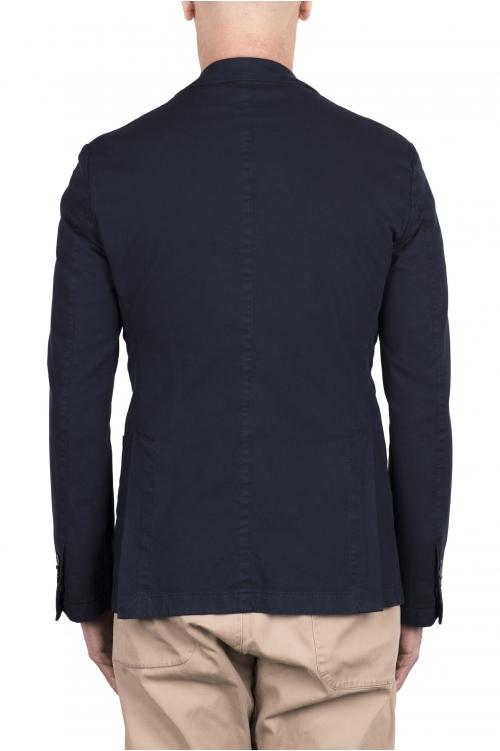 SBU 03340_2021SS Giacca sartoriale in lana elasticizzata blu 01