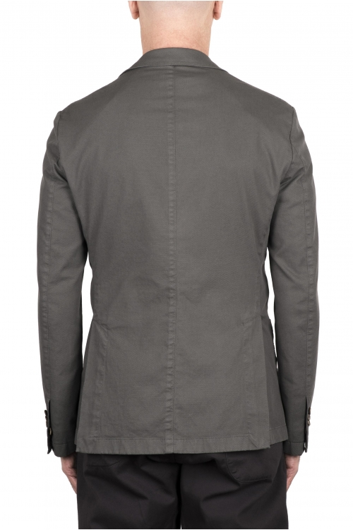 SBU 03341_2021SS Grey stretch cotton tailored jacket 01