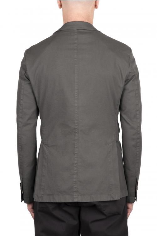 SBU 03341_2021SS Veste tailleur en coton stretch gris 01