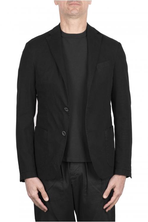 SBU 03342_2021SS Veste tailleur en coton stretch noir 01