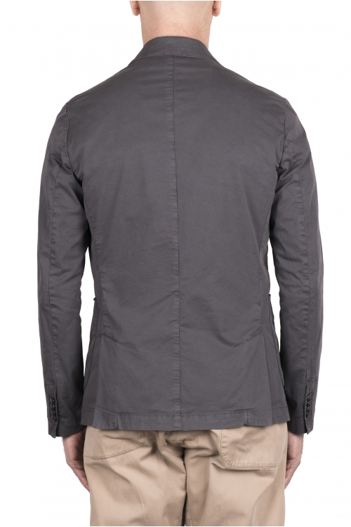 SBU 03343_2021SS Grey cotton sport jacket unconstructed and unlined 01