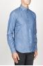SBU 00924 Clásica camisa azul indigo natural de algodón con cuello de punta  02