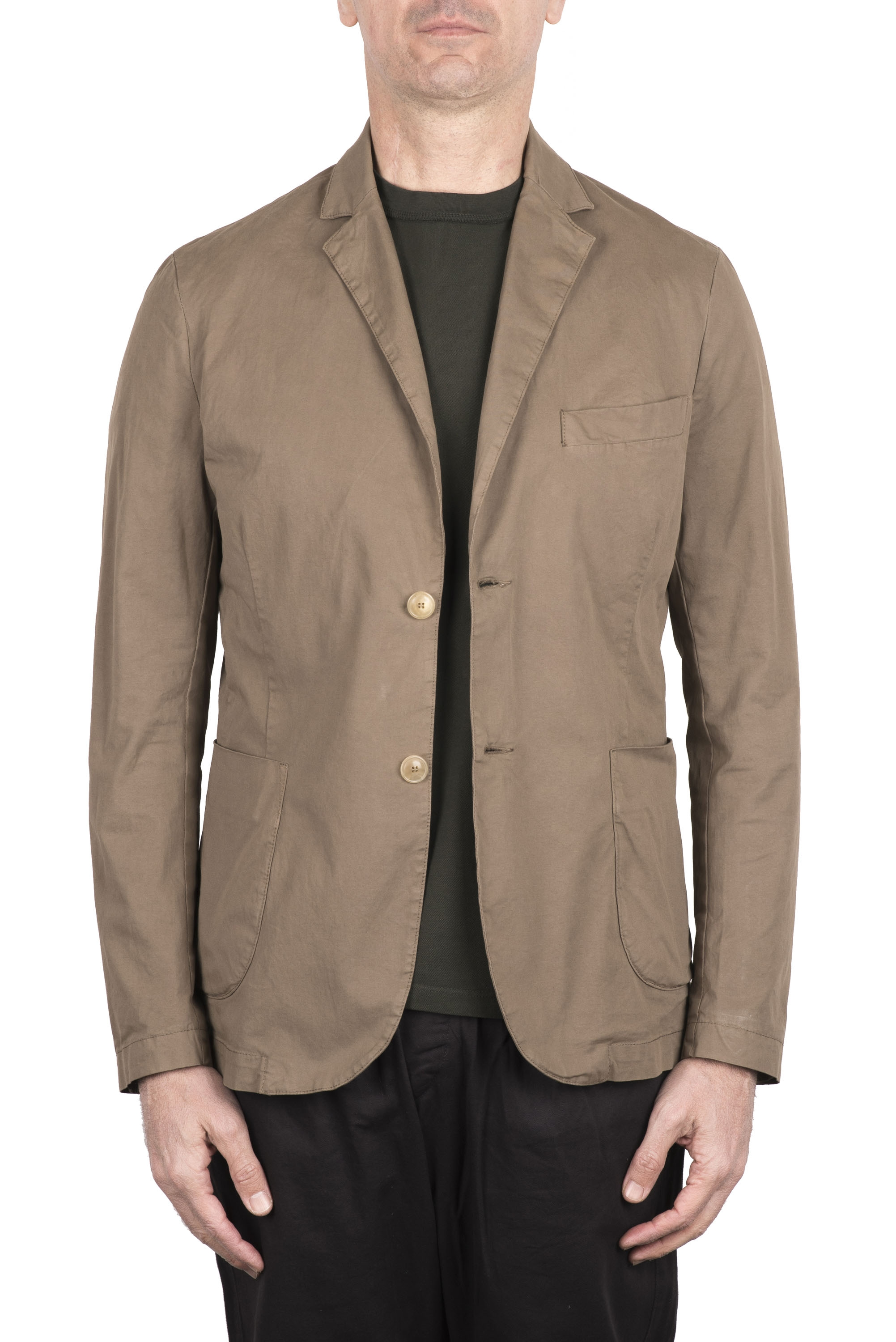 SBU 03344_2021SS Beige cotton sport jacket unconstructed and unlined 01