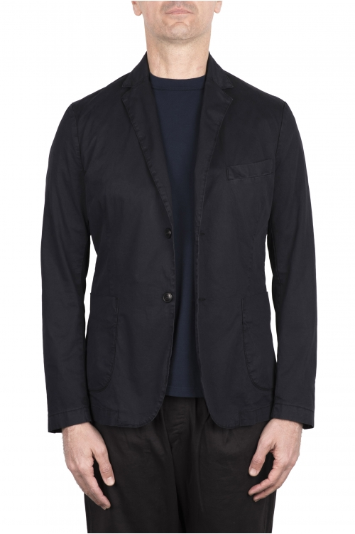 SBU 03345_2021SS Blue cotton sport jacket unconstructed and unlined 01