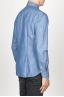 SBU 00924 Clásica camisa azul indigo natural de algodón con cuello de punta  03