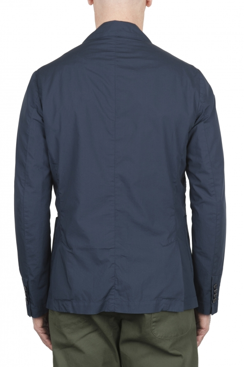 SBU 03346_2021SS Blue cotton sport jacket unconstructed and unlined 01