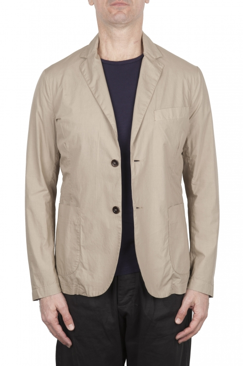 SBU 03347_2021SS Beige cotton sport jacket unconstructed and unlined 01