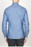 SBU 00924 Clásica camisa azul indigo natural de algodón con cuello de punta 04