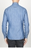 SBU 00924 Classic point collar natural indigo blue cotton shirt 04