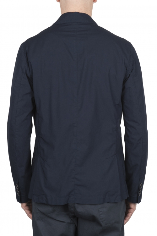 SBU 03348_2021SS Chaqueta deportiva de algodón azul marino sin forro 01