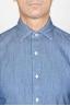 SBU 00924 Camicia classica collo a punta in cotone blue indaco naturale 05