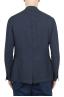 SBU 03351_2021SS Single breasted unconstructed blue linen blazer 04